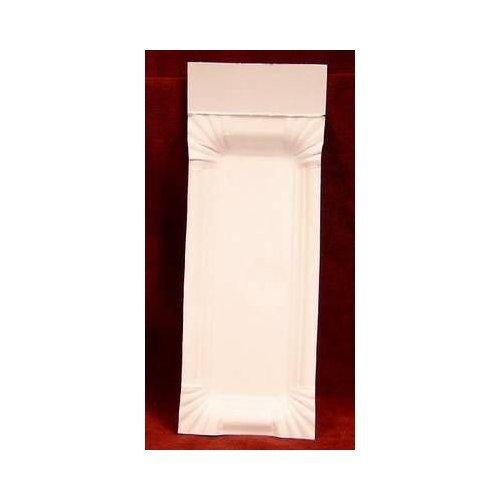250 x Pappteller m. Abriss weiß Bratwurst - Pappen