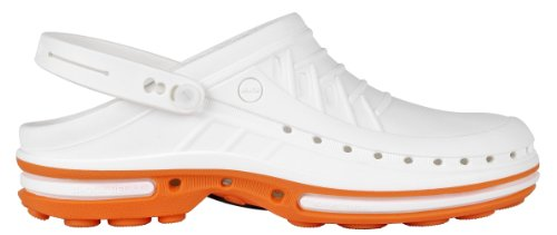 Adulte 4500100 WOCK Blanc Orange Mixte Sabots Blanc tHSSdwTq