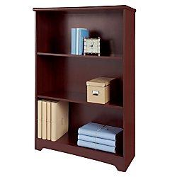 Classic Cherry Bookcase - Realspace(R Magellan Collection 3-Shelf Bookcase, Classic Cherry