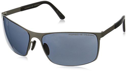 Porsche Men's P'8566 P8566 Rectangle Sunglasses C Gunmetal - Porsche Sunglasses Mens