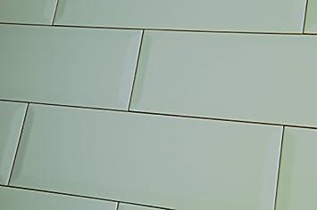échantillon De Metro XL Bleu Canard Laqué Mural Carrelage 10 X 30 Cm
