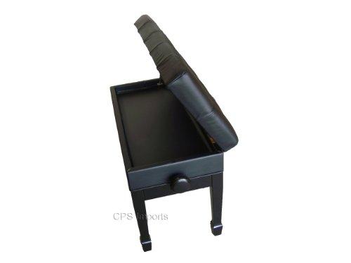 Ebony Adjustable Artist Piano Bench