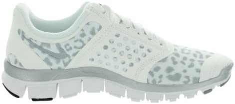Consistente Grave dividir  Nike Free 5.0 Women's Running Shoe Leopard Print White Metallic Silver Wolf  Grey (9) | Road Running - Amazon.com
