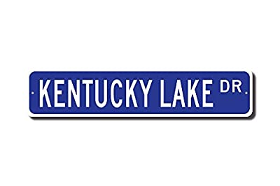 Iliogine Kentucky Lake Sign Kentucky Lake Gift Kentucky Lake Visitor Lake Lover Kytn Lake Street Sign Outdoor Sign Gift Funny Metal Tin Sign Wall Art Decorative