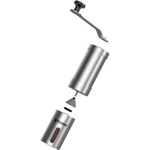 iCooker Manual Coffee Grinder Maker Spice & Coffee Bean Grinder Stainless Steel