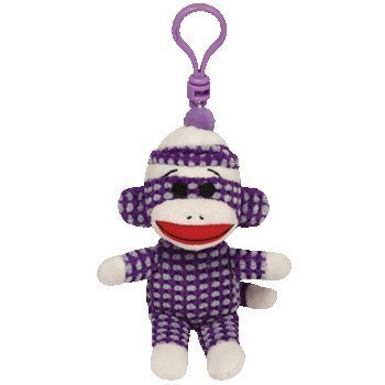 (Ty Beanie Babies Sock Monkey - Purple Quilted Clip [並行輸入品] )