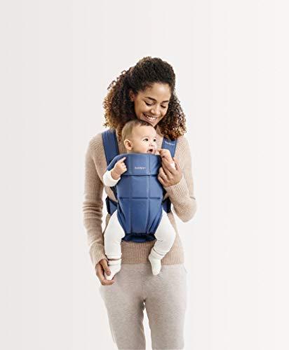 BABYBJÖRN Baby Carrier Mini, Cotton, Vintage Indigo