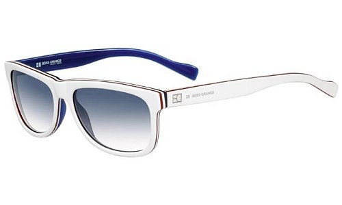 Boss Orange 0083/S Sunglasses White Red Blue / Dark Blue ()