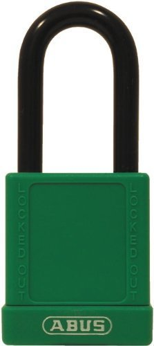 ABUS 74/40 KD Safety Lockout Non-Conductive Keyed Different Padlock with 1-1/2-Inch Shackle, Green by ABUS