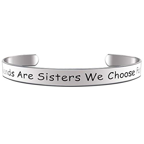 Paris Selection Best Friend Bracelet Gift- Girlfriends are Sisters We Choose for Ourselves