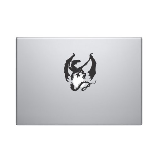 Dragon on Apple Vinyl Car Sticker Symbol Silhouette Keypad Track Pad Decal Laptop Skin Ipad Macbook Window Truck Motorcycle