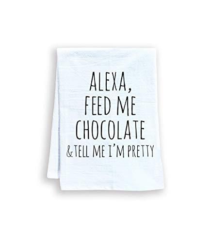 Feed Me and Tell Me I/'m Pretty Dinosaur Kitchen Flour Sack Tea Towel