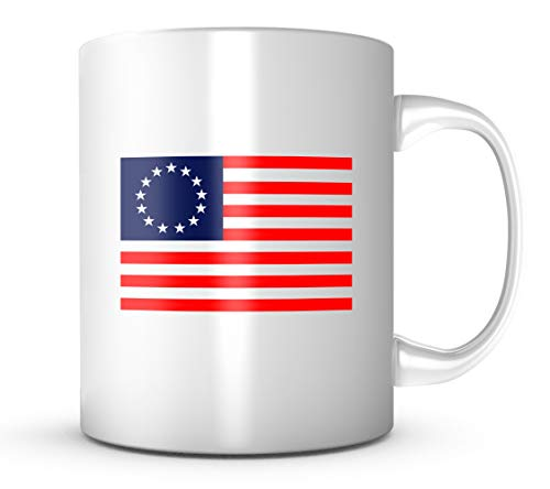 Betsy Ross Flag Mug 11 oz Coffee Cup Womens Role Model Icon ()