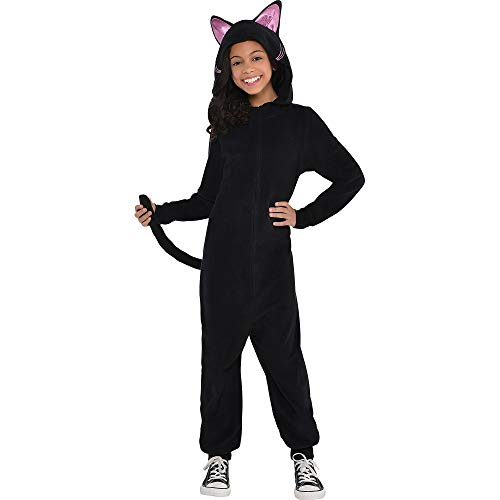 Scary Cat Costumes - Zipster Black Cat Onepiece Costume -