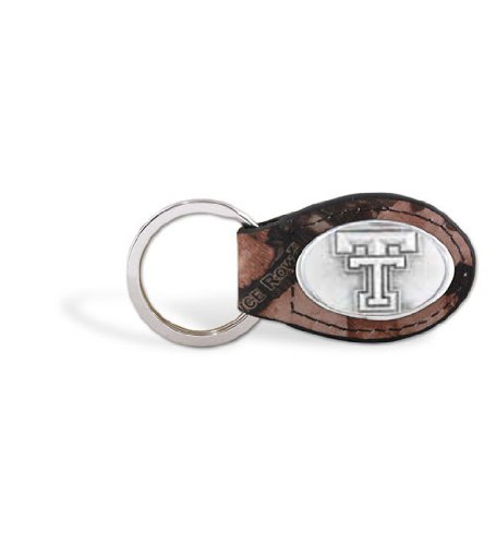 (Texas Tech - Leather Camo Key Fob)