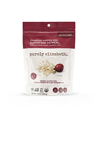 Purely Elizabeth Gluten-Free, Organic, Superfood Oatmeal, Cranberry Pumpkin Seed,(Packaging may vary) 10 - Oatmeal Pumpkin