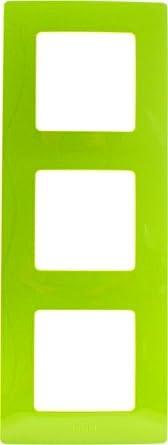 Legrand LEG96723 Niloé - Marco embellecedor para enchufes (3 orificios), color verde
