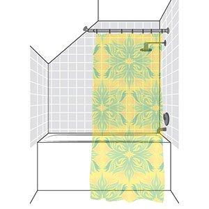 Partial Sloped Ceiling Shower Rod