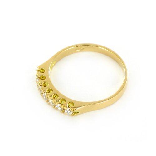 Tousmesbijoux Alliance Or jaune 750/00 et 7 diamants 0,21 ct