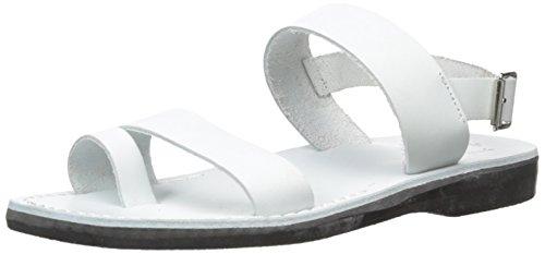 Jerusalem Sandaler Mens Carmel Tå Ring Sandal Vit