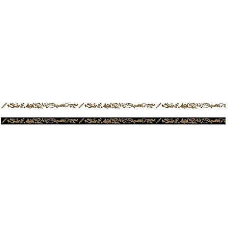 5 m black//gold XIOM edgeband Mandarin 12 mm