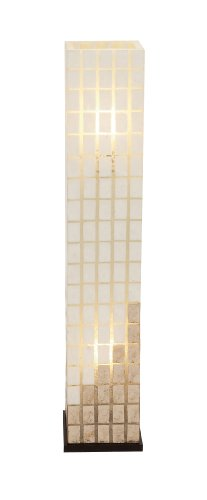 Benzara 52220 The Beautiful Metal Capiz Tower Floor Lamp by Benzara