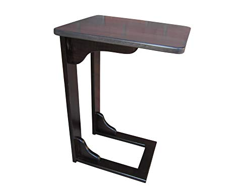 Amish Console - Wooden Sofa Server Amish Handcrafted NO Assembly Required Laptop Table Choice of Color Solid Wood (Two-Tone Brown Maple - Antique Slate)