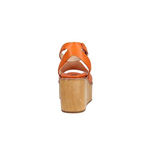 Neosens Sandals S507 Ha Restaurato La Pelle Di Carota Arancione