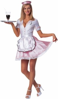 Sexy 50s Diner Waitress Costume (Large 12-14)