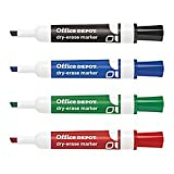 Office Depot Low-Odor Dry-Erase Markers, Chisel Point, Assorted, Pack Of 12, BY1066-MX