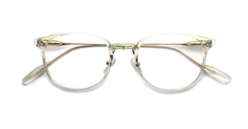 Kelens Transparent Clear Frame Round Hipster Prescription Glasses For - Glasses Style Hipster