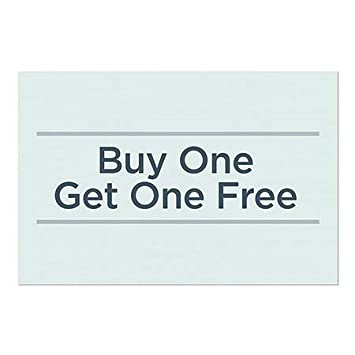 30x20 CGSignLab 5-Pack Basic Teal Window Cling Buy One Get One Free