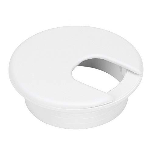 Hole Cable Grommet Plastic - 10 Pack 2 Inch White Desk Grommet for Wires Cords-Plastic