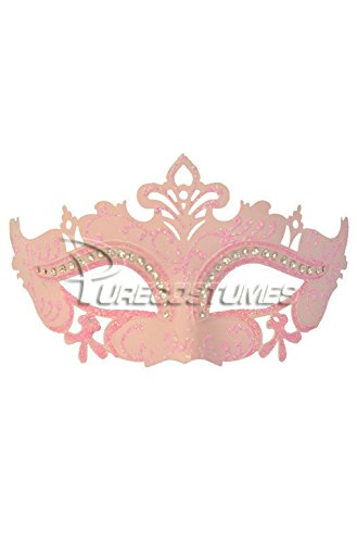 Mememall Fashion Royal Crystals Venetian Mask (Pink) (Pink Power Ranger Toddler Costume)