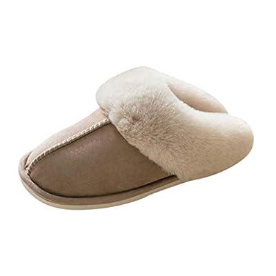 JOYFEEL Womens Slipper Memory Foam Fluffy Soft Warm Slip On House Slippers Anti-Skid Cozy Plush Indoor Shoes Winter: Clothing