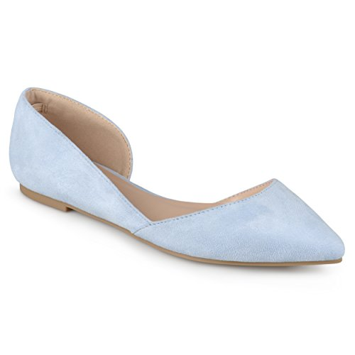 Journee Cut Blue out Toe Flats Pointed Collection Light Womens rwX8xqrI