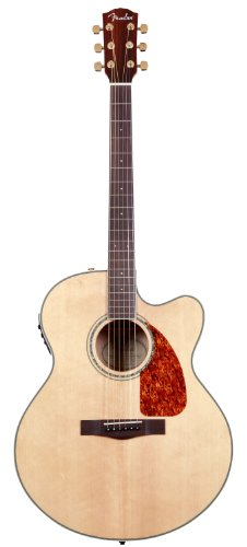 Fender CJ-290SCE Jumbo Cutaway Acoustic Guitar - Natural