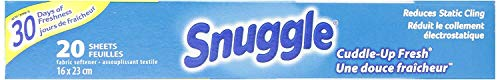 Snuggle Fabric Softner Dryer Sheets, Cuddle Up Fresh Scent, Reduces Static Cling - 480 Count by Snuggle (Image #4)
