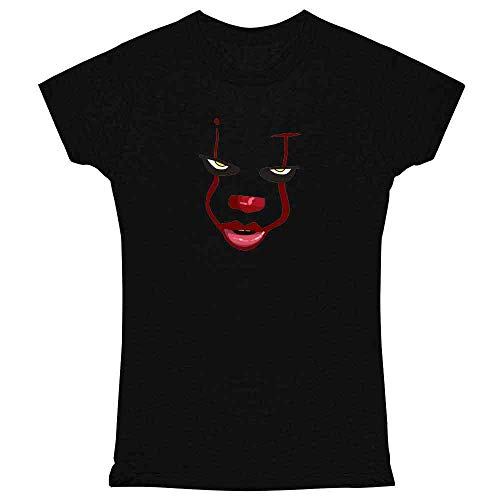 Pop Threads Clown Face Horror Halloween Scary Black