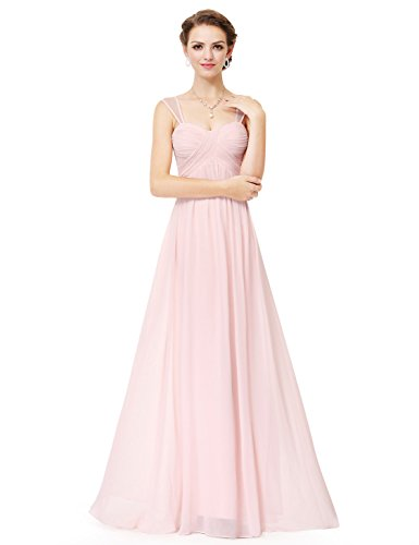 Ever-Pretty Womens Chiffon Empire Waist Floor Length Evening Dress 10 US Pink