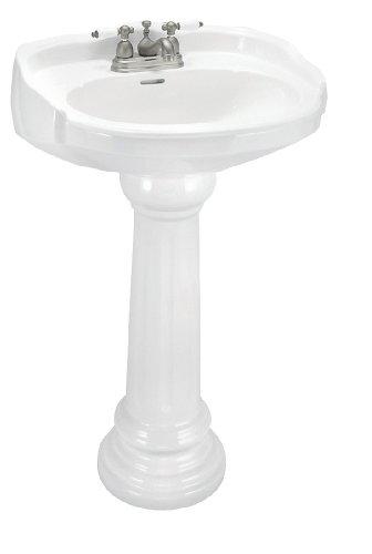 Elizabethan Classics ECABP4WH Aberdeen Petite Pedestal Lavatory, 4-Inch Centers, White