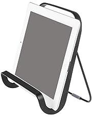 iDesign Austin Tablet and Cookbook Holder, Versatile Kitchen Stand - Matte Black