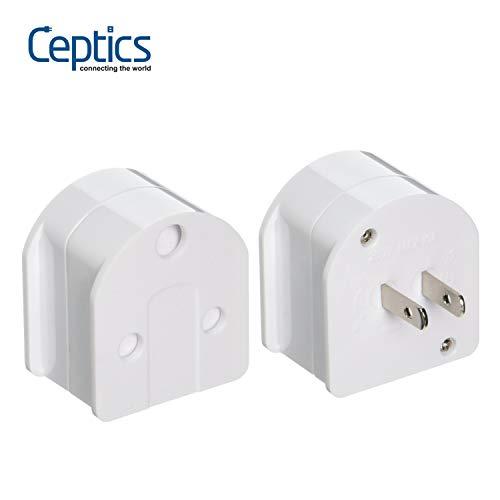 Ceptics SA-US-AU South Africa to USA/Australia Plug Adapter (250V - Max 10A)