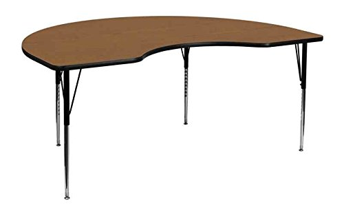 Flash Furniture 72L x 48W in. Kidney Shaped Adjustable Height Activity Table