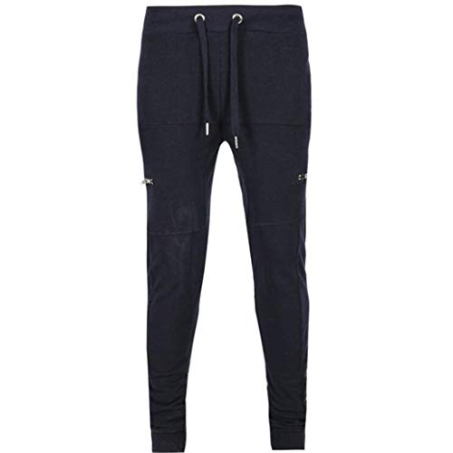 Sumen Teen Boys Sports Gym Workout Running Jogger Pants Trousers Men Sweatpants Shorts Pants Navy