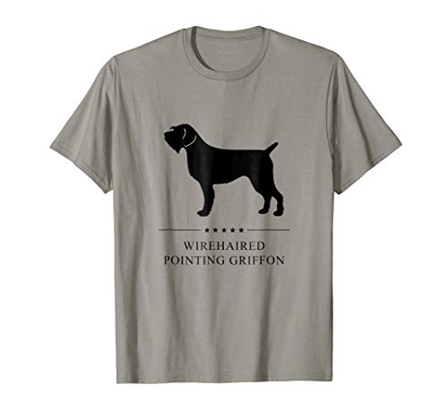 Wirehaired Pointing Griffon Shirt: Black Silhouette