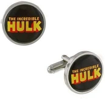 HULK Marvel Superhero Cufflinks Cuff Links Silver Novelty Comics Wedding
