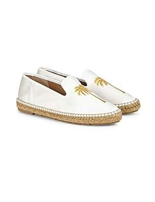 Penelope Chilvers Nonno Palm Espadrilles Womens Shoes 7 B(M) US Women Ivory