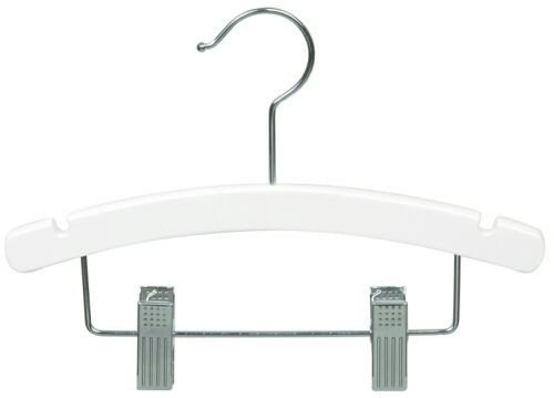 Only Hangers 10'' White Baby/Infant Combination Hanger [ Bundle of 25 ]