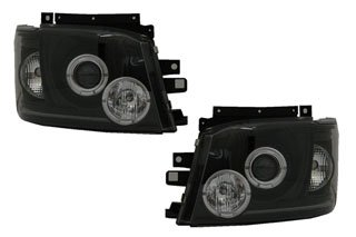 SONAR(ソナー) LEDヘッドライト 切れ 水漏れ1年間保証付! エンジェルアイ プロジェクター ブラック インナー 200系 ハイエース 【GWセール特価 5/6まで】 B00ECSIWII
